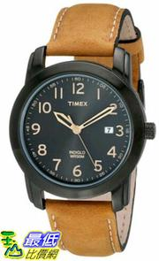 [105美國直購] Timex Mens T2P1339J Elevated Classics Stainless Steel Watch with Brown Genuine Leather Strap