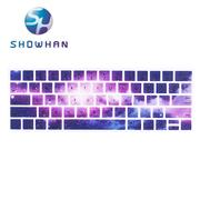 【SHOWHAN】Apple MacBook Pro Touch Bar 13吋英文鍵盤膜  星空2號