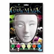 【4M 創意 DIY】paint your own giow mask 百變螢光面具