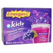 [iHerb] [iHerb] Emergen-C Kids, Grape, 30 Packets, 9.4 g Each