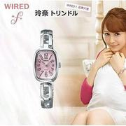 SEIKO WIRED f《時尚女款系列 ↘日本名模 玲奈代言 》光動能免換電池 AS8003X