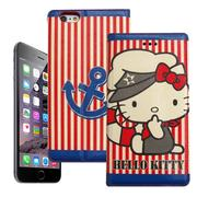 Hello Kitty iPhone 6s/6 4.7吋 i6 彩繪磁力書本皮套(水手船長)-手機平板配件-myfone購物