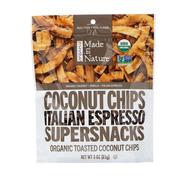 [iHerb] Made in Nature, Organic Toasted Coconut Chips, Italian Espresso Supersnacks, 3.0 oz (85 g)