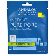 [iHerb] Andalou Naturals, Instant Pure Pore, Hydro Serum Facial Mask, 1 Single Use Fiber Sheet Mask, .6 fl oz (18 ml )