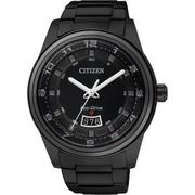 【CITIZEN】Eco-Drive 時尚都會大三針腕錶-IP黑/42mm(AW1284-51E)