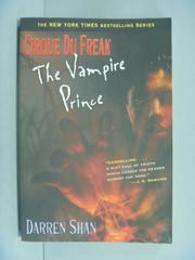 【書寶二手書T7/一般小說_IIC】Cirque Du Freak #6: The Vampire Prince_Sha