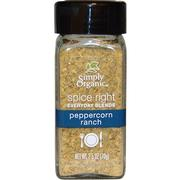 Simply Organic, Organic Spice Right Everyday Blends, Peppercorn Ranch, 2.2 oz (70 g)