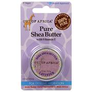 [iHerb] [iHerb] Out of Africa Pure Shea Butter with Vitamin E, Lavender, 0.5 oz (14.2 g)
