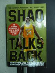 【書寶二手書T9/傳記_LOK】Shaq Talks Back_O'Neal, Shaquille