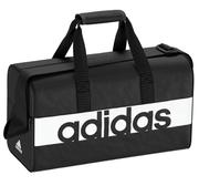 ADIDAS LIN PERFORMANCE TRAINING BAG XS 旅行袋 側背 肩背 黑 白【運動世界】 S99950