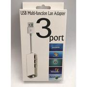 【MACBOOK 網路卡】網卡 USB 3Port 可用於 Windows7 Mac OS X USB2.0