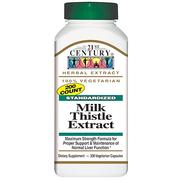 [iHerb] [iHerb] 21st Century Milk Thistle Extract, Standardized, 200 Veggie Caps