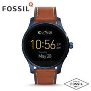 FOSSIL Q MARSHAL智慧錶 FTW2106/藍x棕 ios+android兼容/45mm