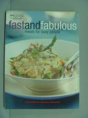 【書寶二手書T8/餐飲_XFO】Fast and Fabulous _Mary Coleman