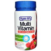 Yum-V's, Multi Vitamin, for Adults,Raspberry Flavor, 60 Jelly Vitamins