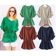 Women Summer Casual Blouse T-Shirts Loose Tops For Ladies