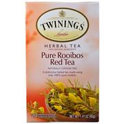 [iHerb] Twinings, Herbal Tea, Pure Rooibos Red Tea, Caffeine Free, 20 Tea Bags, 1.41 oz (40 g)