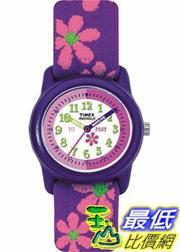 [美國直購 ShopUSA] Timex 手錶 Children's T89022 Purple Cloth Quartz Watch with White Dial
