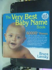 【書寶二手書T6/保健_OIQ】The Very Best Baby Name Book_Lansky