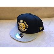 NBA球帽 Golden State Warriors 金州勇士隊 黑底灰 復古Logo 可調式 全新 New Era