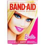 Band Aid, Adhesive Bandages, Barbie, 20 Assorted Sizes