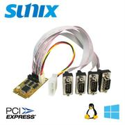 SUNIX 4埠帶電RS-232 PCI-Express Mini-Card