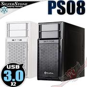 PC PARTY 銀欣 SilverStone PS08 USB3.0 黑 白