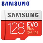 【Samsung 三星】128GB 100MB/s EVO Plus microSDXC TF UHS-I U3 記憶卡