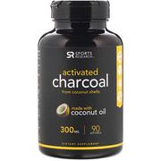 [iHerb] Sports Research Activated Charcoal with Extra Virgin Organic Coconut Oil, 90 Count