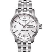 TISSOT PRC200 Powermatic 80 時尚機械腕錶-銀/39mm T0554301101700