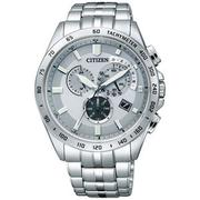 CITIZEN Eco-Drive 電波碼錶鬧鈴時尚男錶(AT3000-59A)