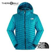 The North Face 男 ThermoBall? 保暖兜帽外套 瓷釉藍 C938