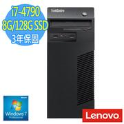 Lenovo 聯想 ThinkCentre M73 Tower 商用電腦 ( i7-4790 8G 128G SSD WIN7專業版)