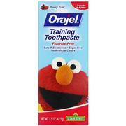 [iHerb] Orajel, Sesame Street Training Toothpaste, Flouride-Free, 3 Months to 4 Years, Berry Fun, 1.5 oz (42.5 g)