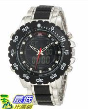 [美國直購 USAShop] U.S. Polo Assn. Classic Men's US8161 Black and Silver Bracelet Analog Digital 手錶 $1123