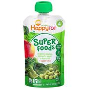 [iHerb] Nurture Inc. (Happy Baby), Happytot, Organic Superfoods, Apples, Spinach Peas & Broccoli + Super Chia, 4.22 oz (120 g)