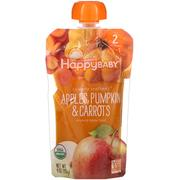 [iHerb] Happy Family Organics Organic Baby Food, Stage 2, Clearly Crafted, 6+ Months Apples, Pumpkin & Carrots, 4 oz (113 g)