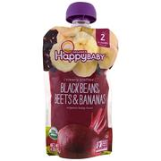 [iHerb] Happy Family Organics Organic Baby Food, Stage 2, Clearly Crafted 6+ Months, Black Beans, Beets & Bananas, 4 oz (113 g)