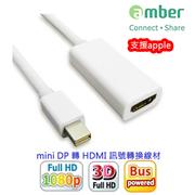 amber mini DisplayPort轉HDMI訊號轉換線(Thunderbolt/HDMI) (3.8折)