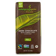[iHerb] Endangered Species Chocolate, Natural Dark Chocolate with Forest Mint, 3 oz (85 g)