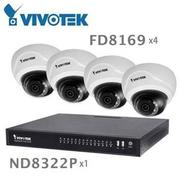 『人言水告』晶睿 ND8322P 8CH NVR+FD8169 IR Network Dome Camera 組合