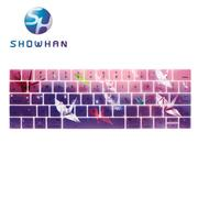 【SHOWHAN】Apple MacBook Pro Touch Bar 13吋英文鍵盤膜 千紙鶴