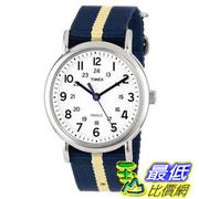 [美國直購 ShopUSA] Timex 中性男女通用錶  T2P1429J Weekender Watch with Navy and Tan Nylon Strap