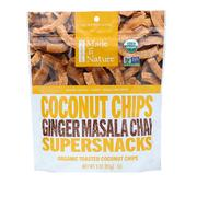 [iHerb] Made in Nature, Organic Toasted Coconut Chips, Ginger Masala Chai, 3.0 oz (85 g)