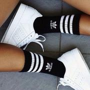【adidas】adidas Originals SOLID CREW SOCK 3P 愛迪達 長襪 黑 -S21490