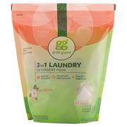 [iHerb] [iHerb] GrabGreen 3-in-1 Laundry Detergent Pods, Gardenia, 60 Loads,2lbs, 6oz (1,080 g)