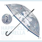 【HAPPY CLEAR UMBRELLA】GOLF  高爾夫(晴天 雨傘)