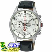 [105美國直購] Seiko Men's 男士手錶 SNDC87P2 Black Leather Quartz Watch