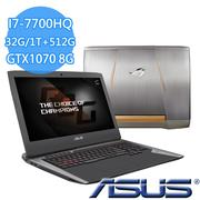 ASUS G752VS 17吋 GTX1070 高規顯卡VR支援 (I7-7700HQ/16G*2/1TB+512G/G752VS(KBL)-0071A7700HQ)