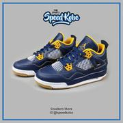 ☆SP☆Air Jordan 4 Dunk From Abov GS AJ4 海軍藍黃 大童 408452-425